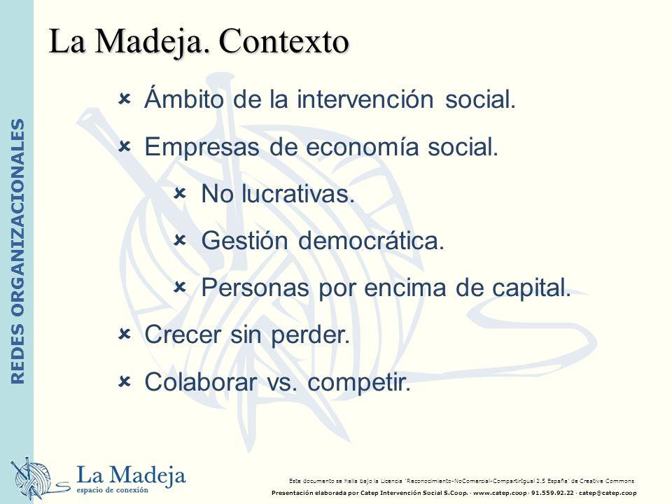 REDES ORGANIZACIONALES Ámbito de la intervención social. Empresas de economía social. No lucrativas. Gestión democrática. Personas por encima de capit