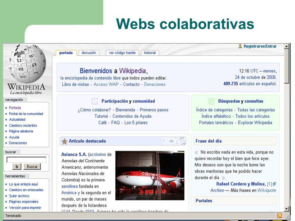 Webs colaborativas