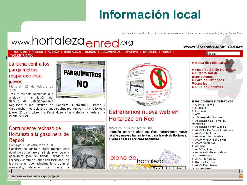 Información local