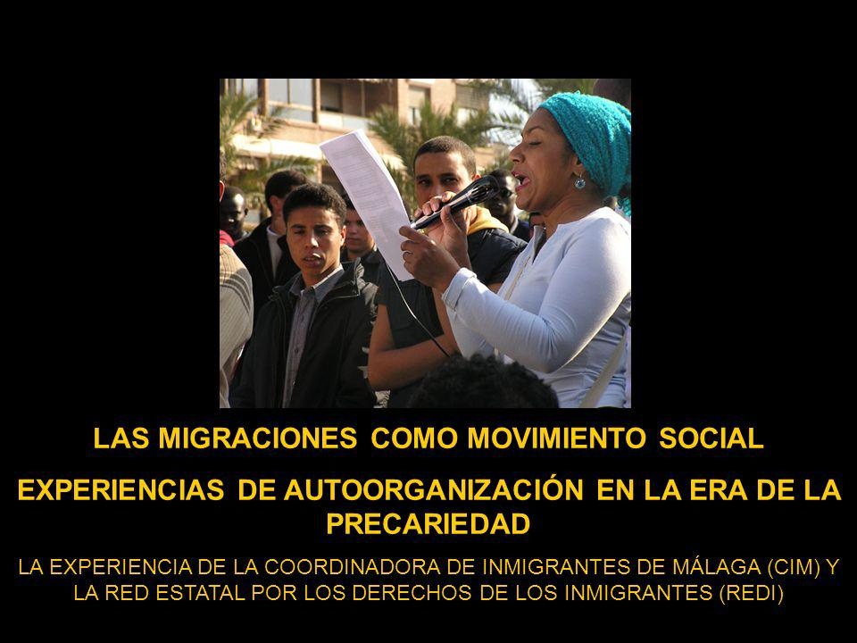 DICIEMBRE 2004 CONSTITUCIÓN DE LA COORDINADORA DE INMIGRANTES DE MÁLAGA (CIM) NO EMPEZAMOS DE CERO – 3 encierros de sin papeles en Málaga en el ciclo 2000/2002,asociaciones de inmigrantes ya consolidadas, experiencia de colectivos pro- inmigrantes (especialmente en la lucha contra el CIE) y trayectoria militante de migrantes en sus países de orígen.