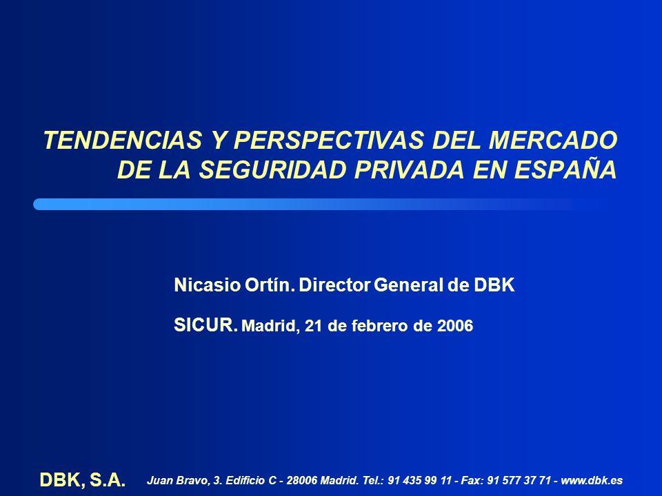 TENDENCIAS Y PERSPECTIVAS DEL MERCADO DE LA SEGURIDAD PRIVADA EN ESPAÑA Nicasio Ortín.