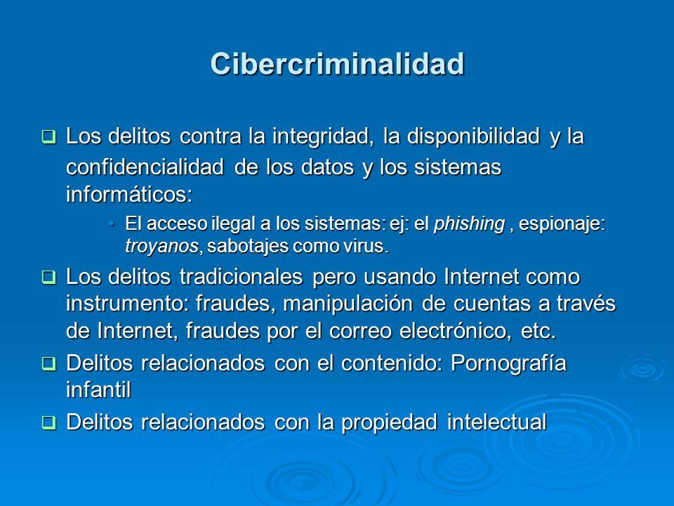 Cibercriminalidad Los delitos contra la integridad, la disponibilidad y la confidencialidad de los datos y los sistemas informáticos: Los delitos cont
