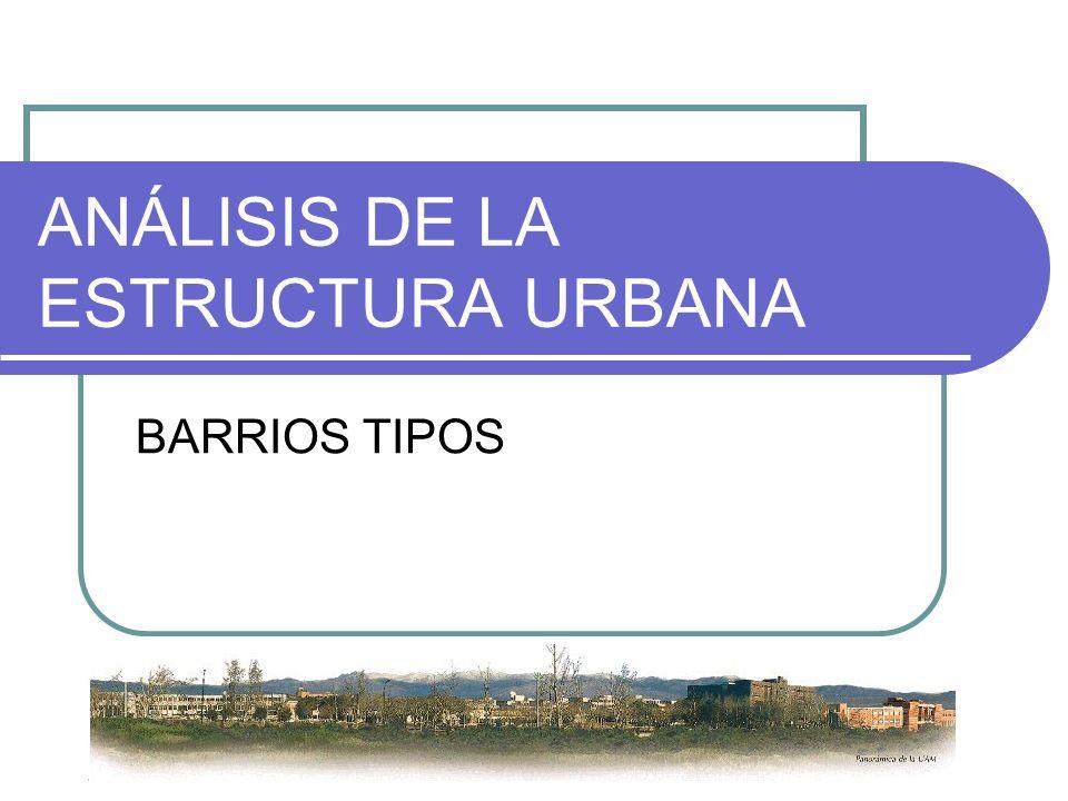 ANÁLISIS DE LA ESTRUCTURA URBANA BARRIOS TIPOS
