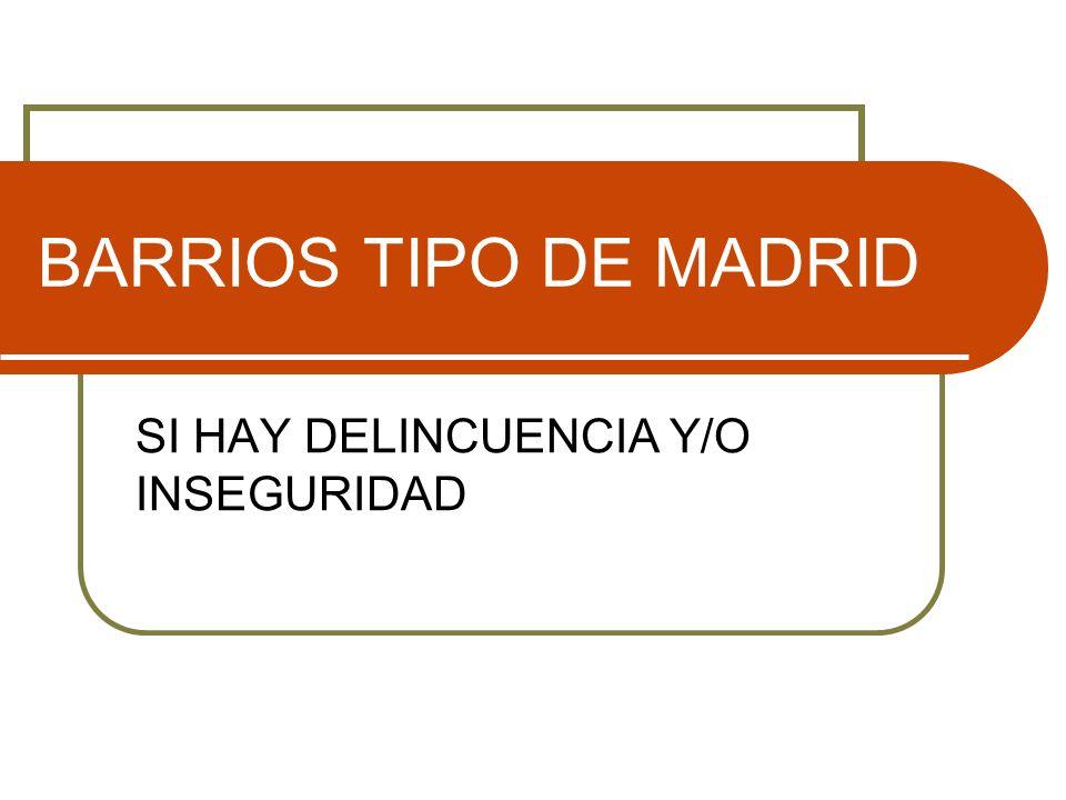 BARRIOS TIPO DE MADRID SI HAY DELINCUENCIA Y/O INSEGURIDAD