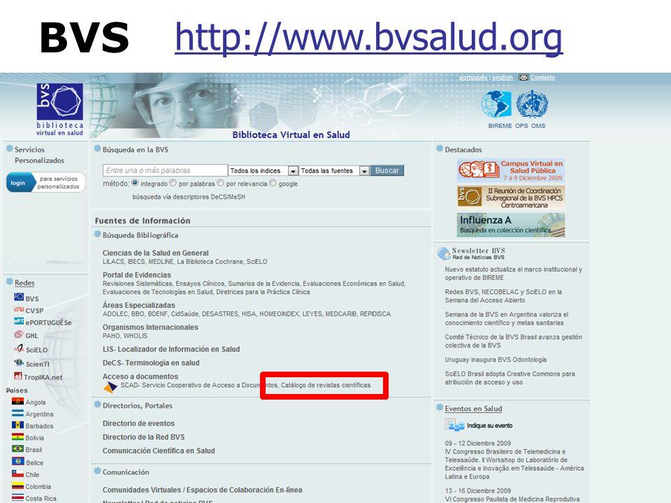 BVS http://www.bvsalud.org