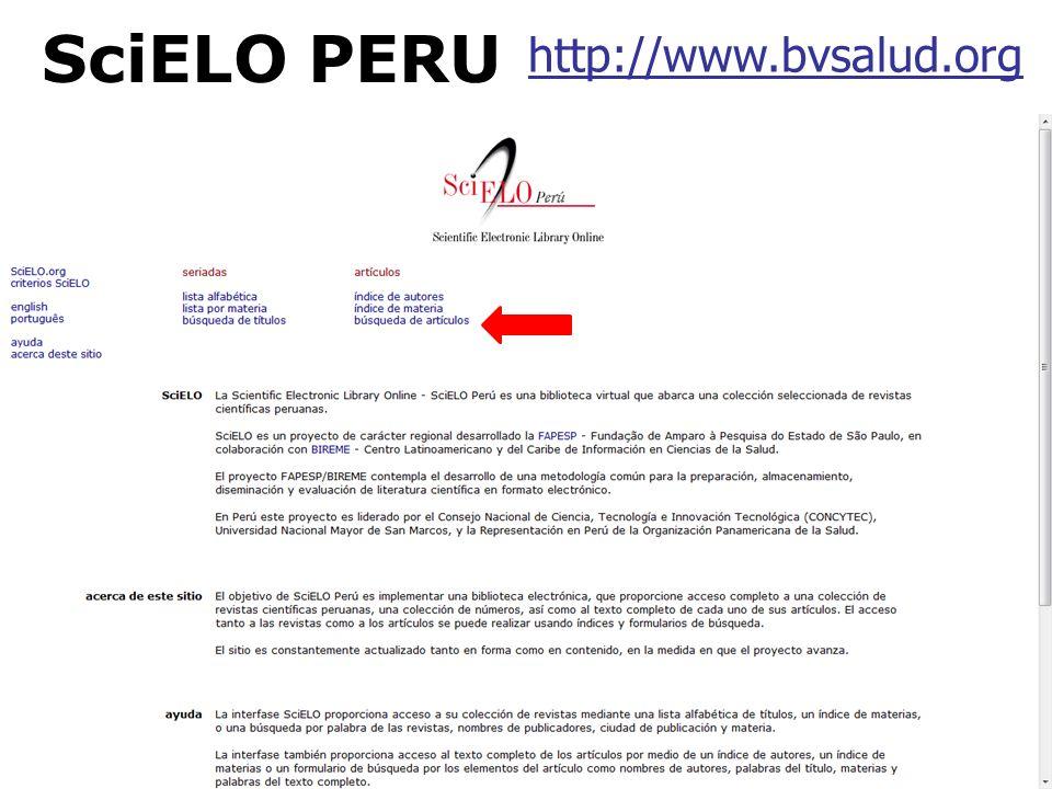 http://www.bvsalud.org SciELO PERU