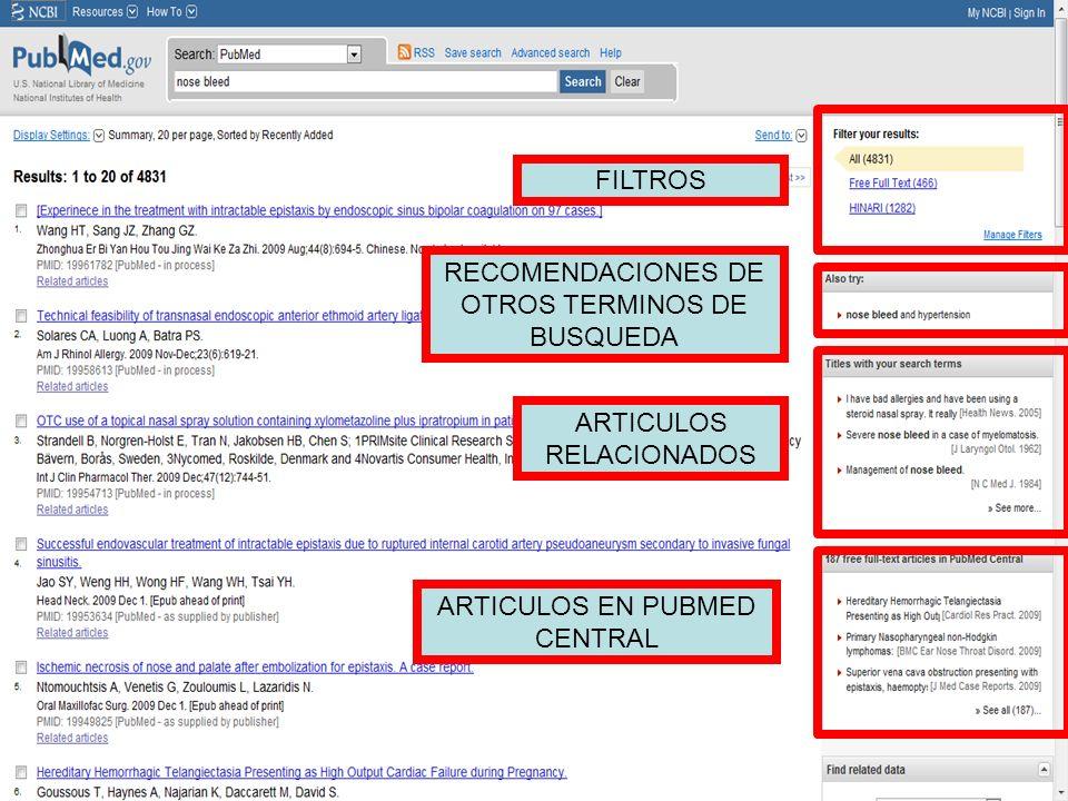 FILTROS RECOMENDACIONES DE OTROS TERMINOS DE BUSQUEDA ARTICULOS RELACIONADOS ARTICULOS EN PUBMED CENTRAL