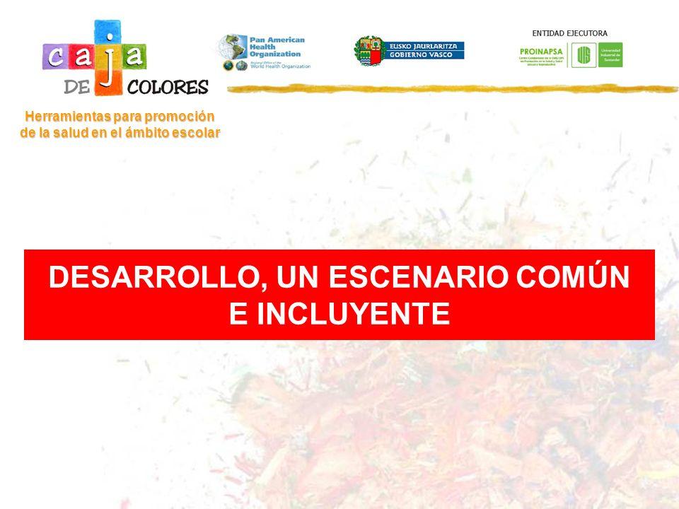 DESARROLLO, UN ESCENARIO COMÚN E INCLUYENTE Herramientas para promoción de la salud en el ámbito escolar
