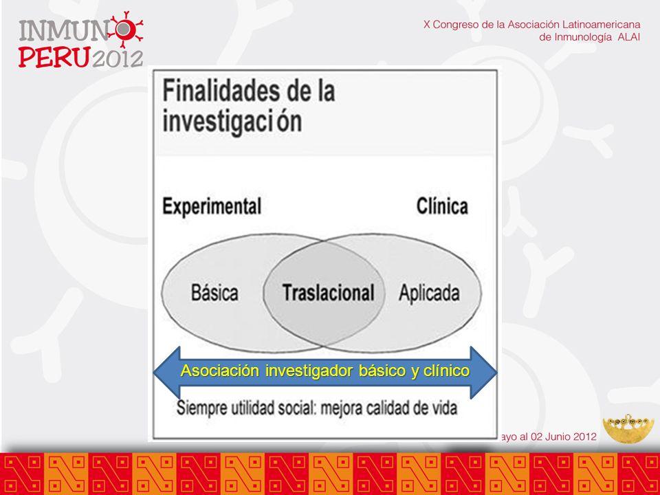 Asociación investigador básico y clínico