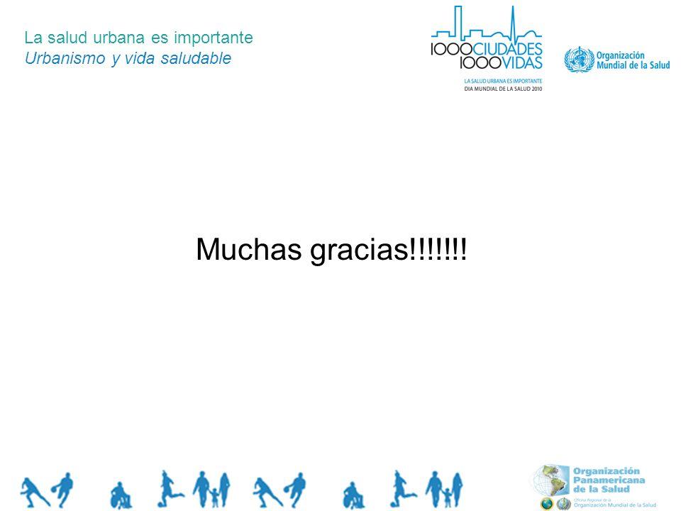 La salud urbana es importante Urbanismo y vida saludable Muchas gracias!!!!!!!