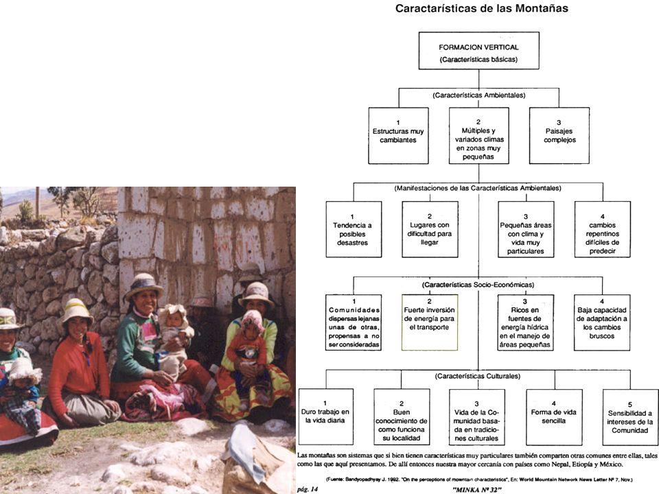 Cuadro Resumen de las Características de las Montañas