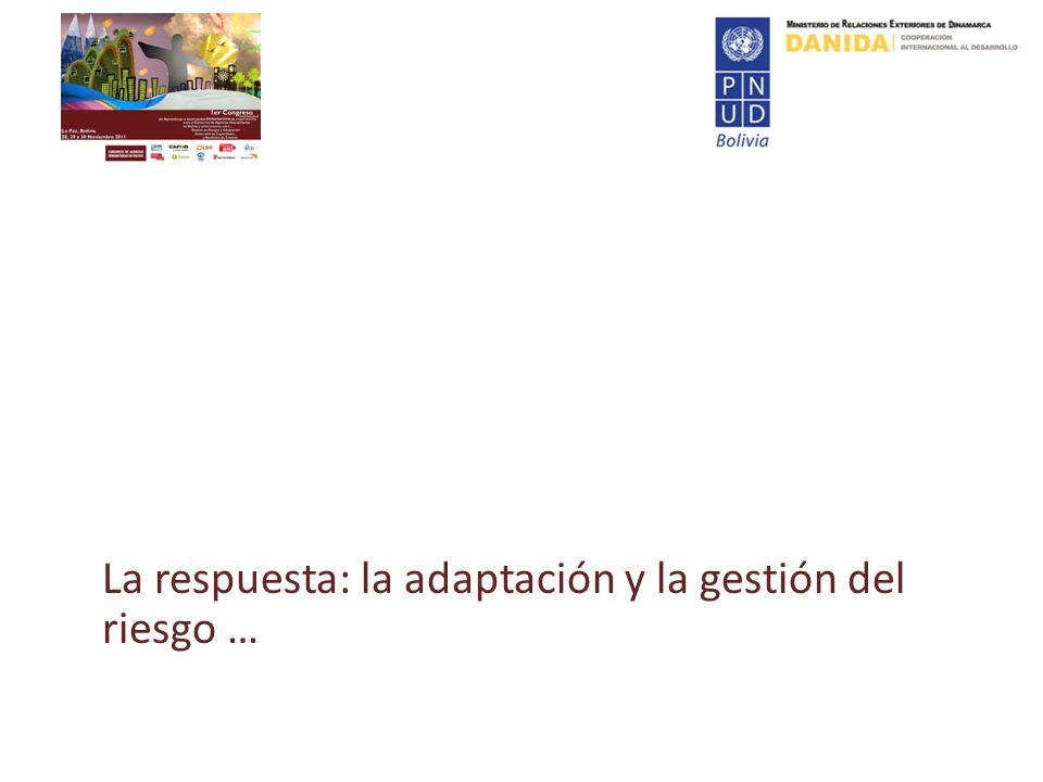 La respuesta: la adaptación y la gestión del riesgo …