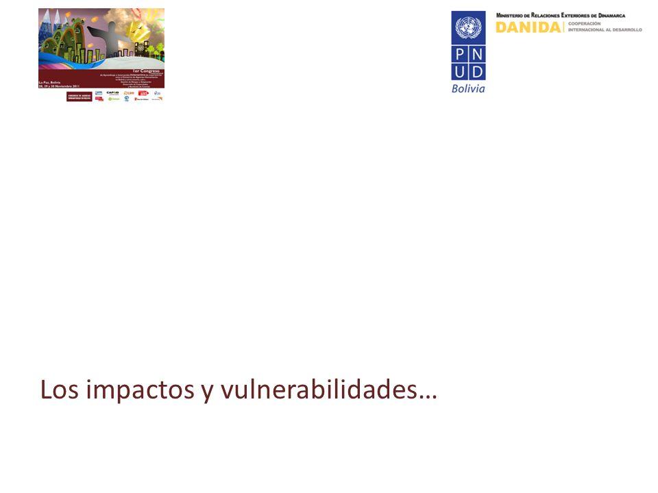 Los impactos y vulnerabilidades…