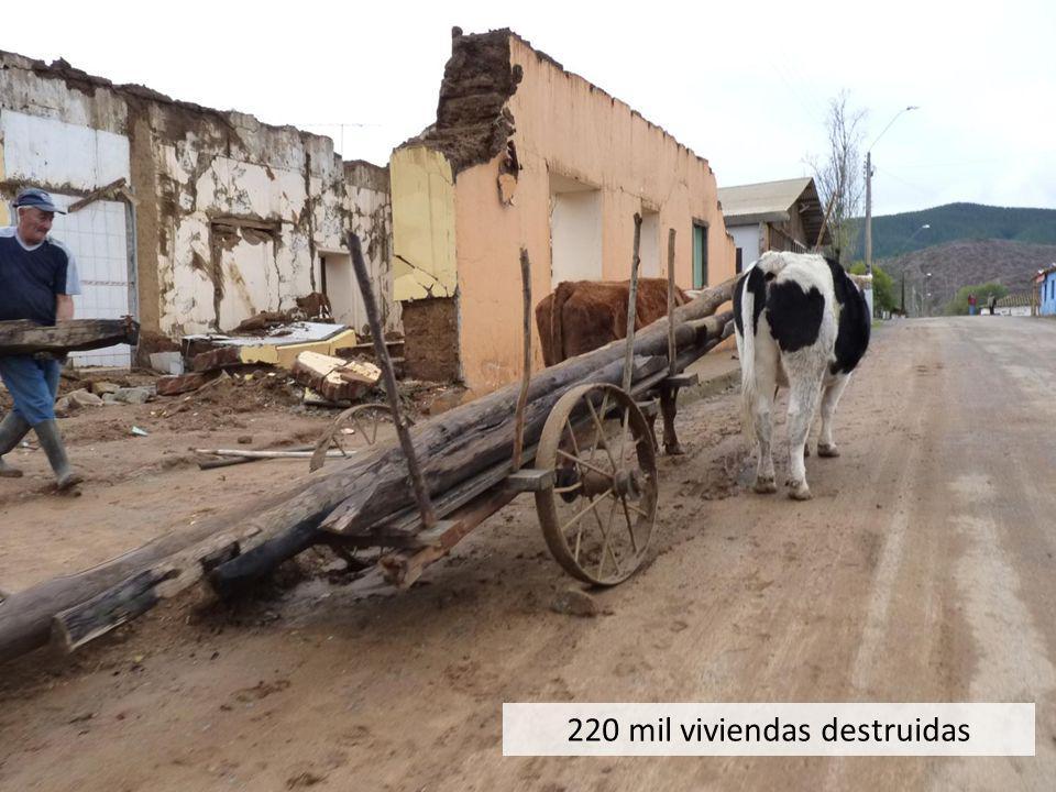 220 mil viviendas destruidas