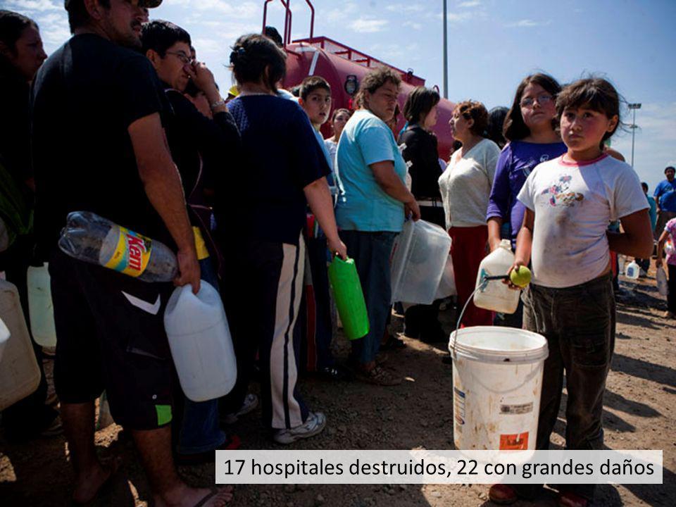 17 hospitales destruidos, 22 con grandes daños
