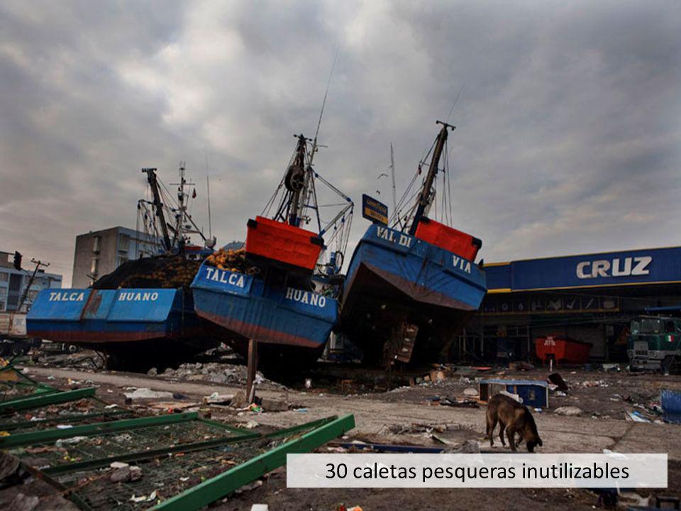 30 caletas pesqueras inutilizables