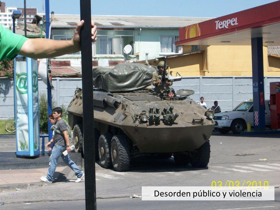 Desorden público y violencia