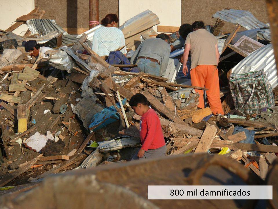5 ciudades grandes, 45 medianas, 900 pueblos afectados