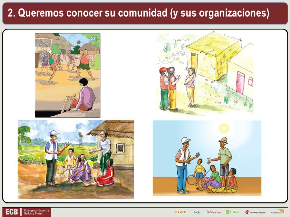 2. Queremos conocer su comunidad (y sus organizaciones)