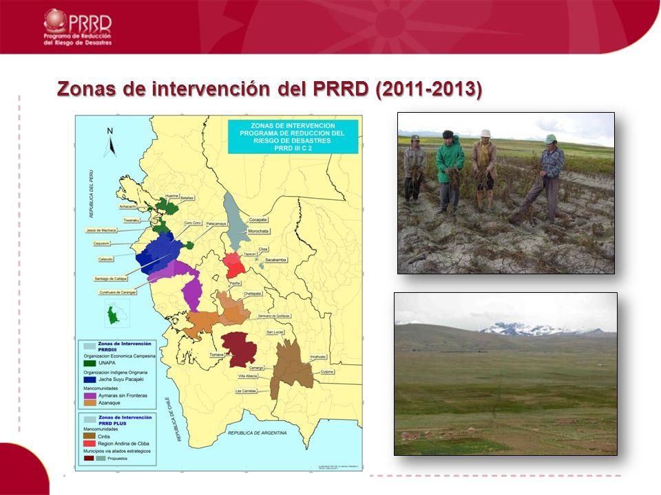 Zonas de intervención del PRRD (2011-2013)