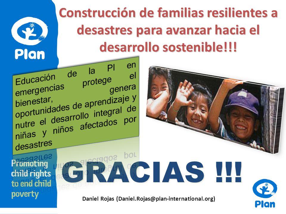 Construcción de familias resilientes a desastres para avanzar hacia el desarrollo sostenible!!.