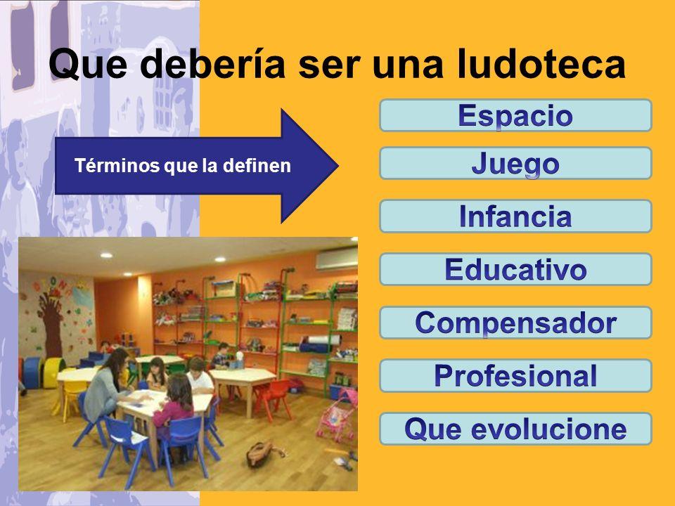 Las Ludotecas como respuesta a las dificultades de los niños para desarrollar sus juegos en la sociedad actual.