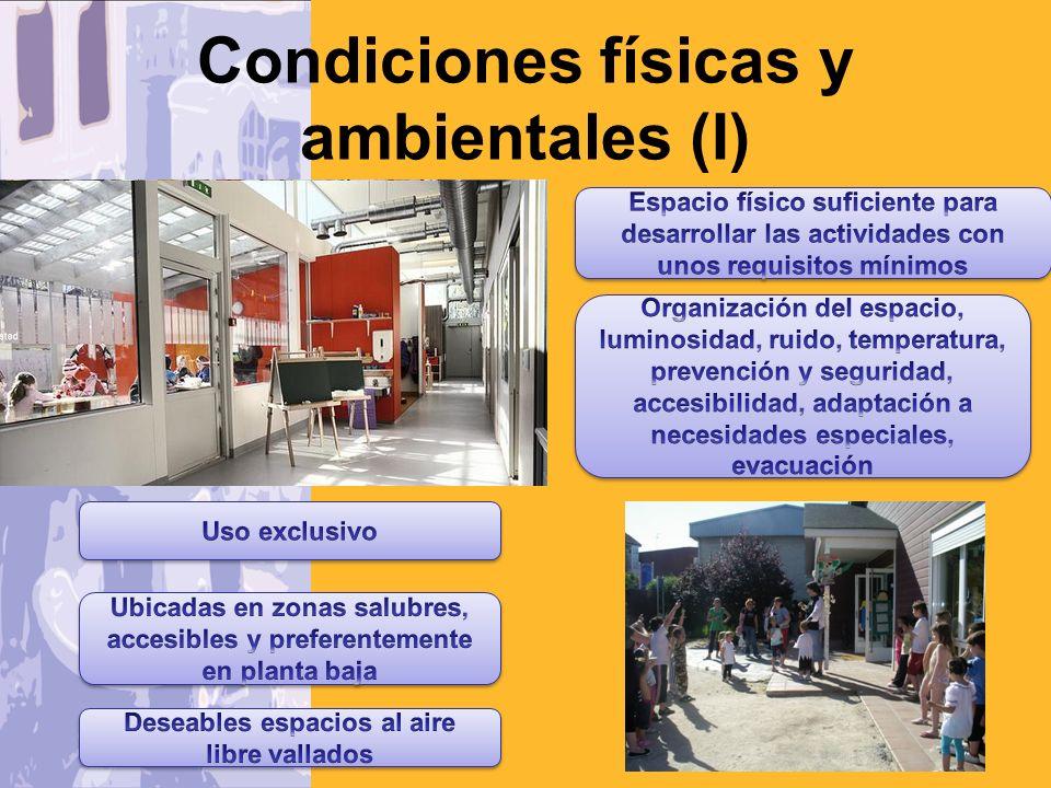 Condiciones físicas y ambientales (II)