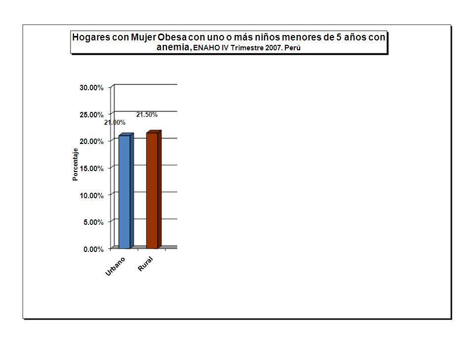 Fuente: Centro Nacional de Alimentación y Nutrición 2007. Modulo de Nutrición – ENAHO - INEI