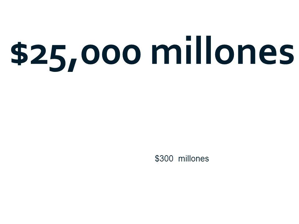 $25,000 millones $300 millones