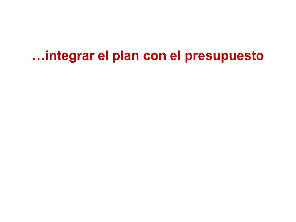 …integrar el plan con el presupuesto …poner énfasis en el punto de atención al ciudadano Incentivos para promover la gestión
