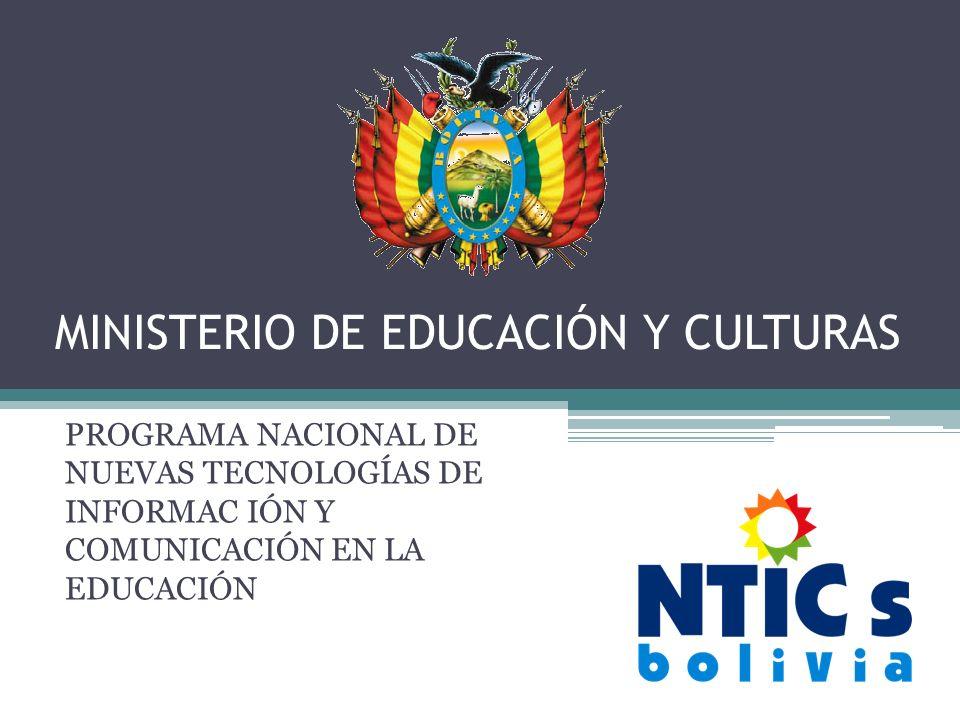 MINISTERIO DE EDUCACIÓN Y CULTURAS PROGRAMA NACIONAL DE NUEVAS TECNOLOGÍAS DE INFORMAC IÓN Y COMUNICACIÓN EN LA EDUCACIÓN