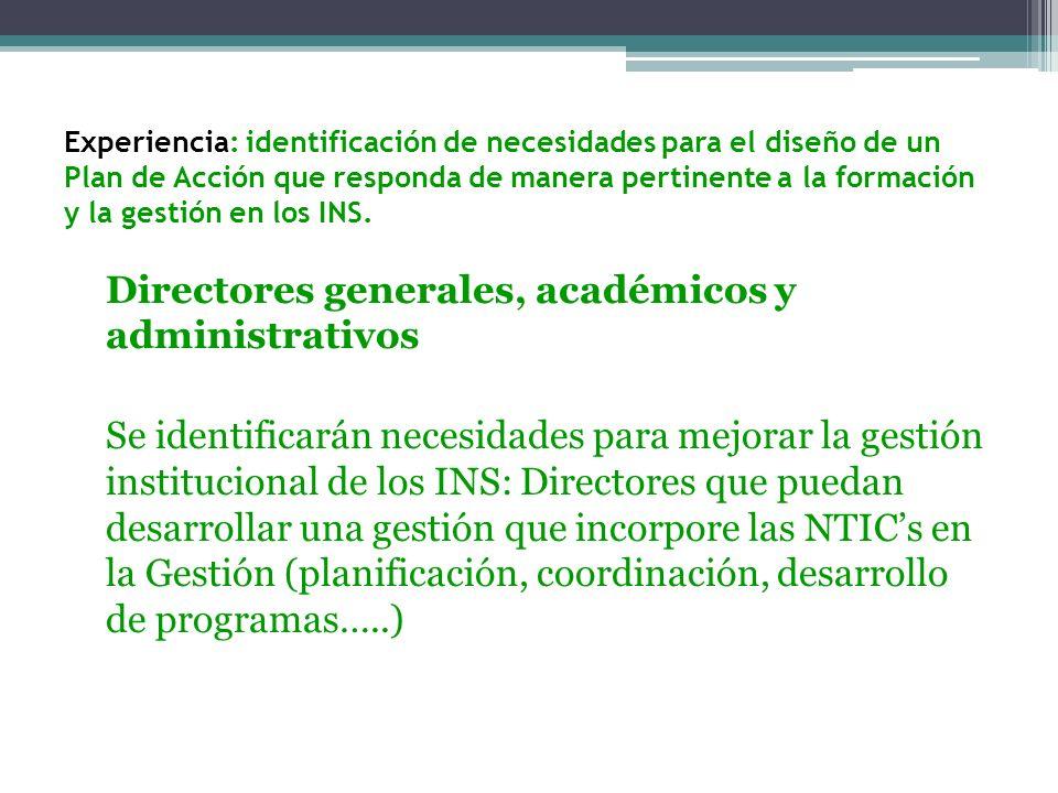 Docentes: Se identifican necesidades de formación en NTICs.