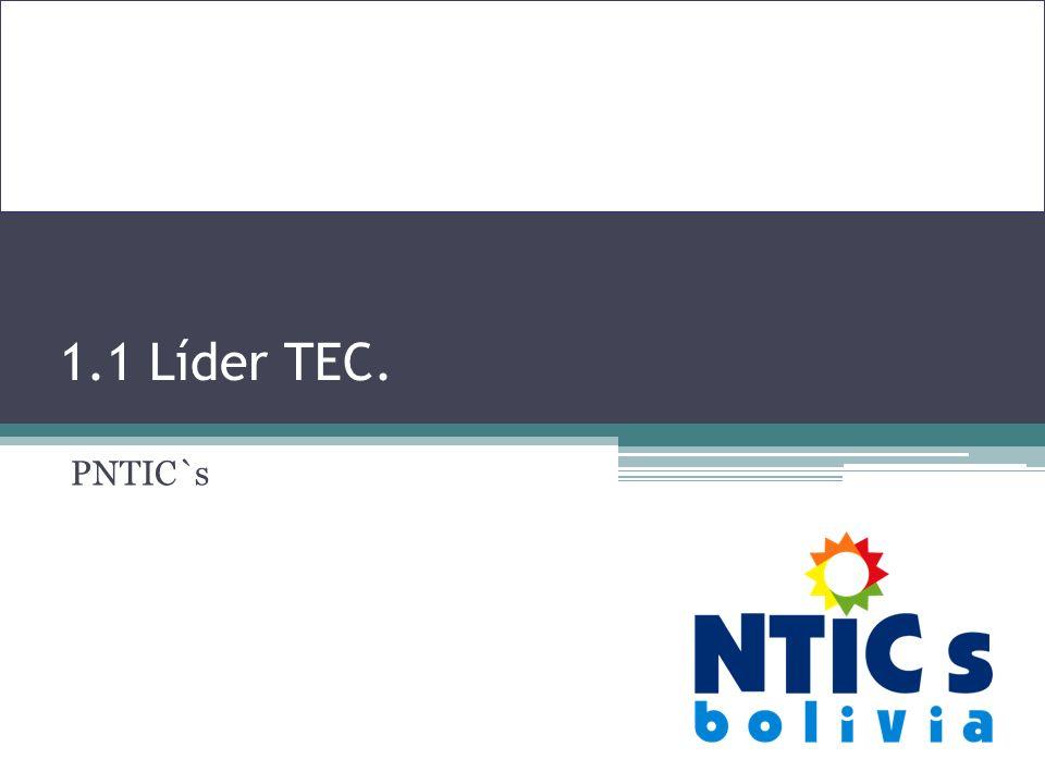1.1 Líder TEC. PNTIC`s