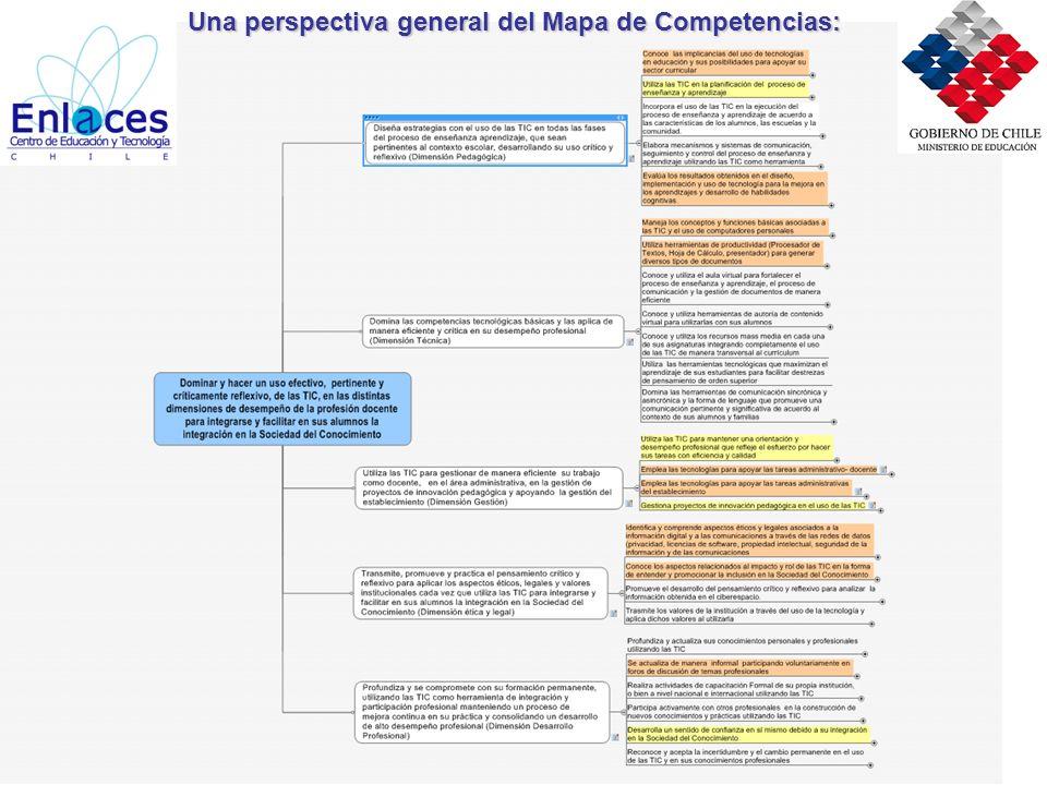 Mapa de Competencias TIC para la Formación y la Profesión Docente Una perspectiva general del Mapa de Competencias: