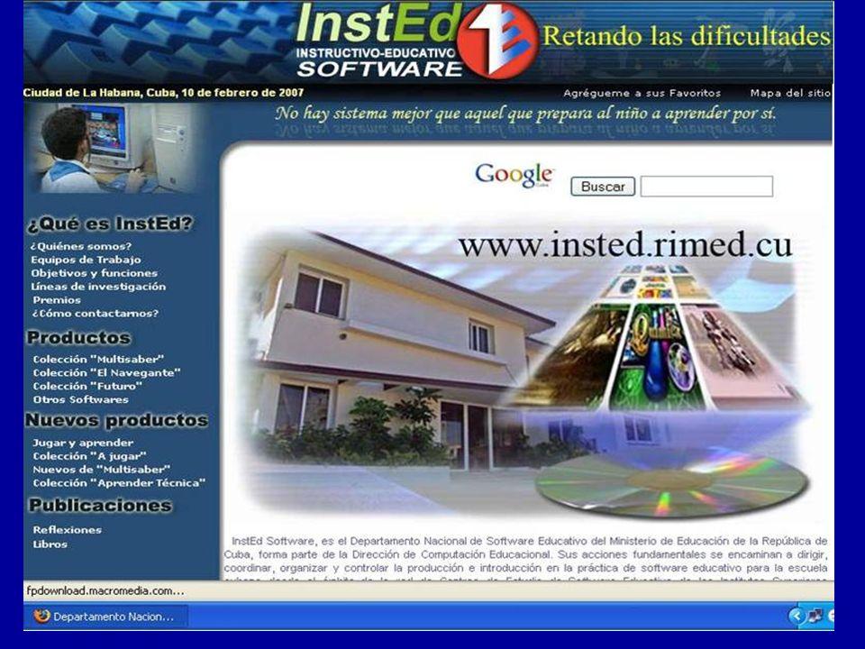 LA INFORMÁTICA EN EL SISTEMA DE EDUCACIÓN LA INFORMÁTICA EN EL SISTEMA DE EDUCACIÓN DE CUBA Desarrollo de una red informática para la educación (RIMED) Portal educativo en el marco de RELPE Migración del software educativo hacia plataformas de software libre Proyecciones