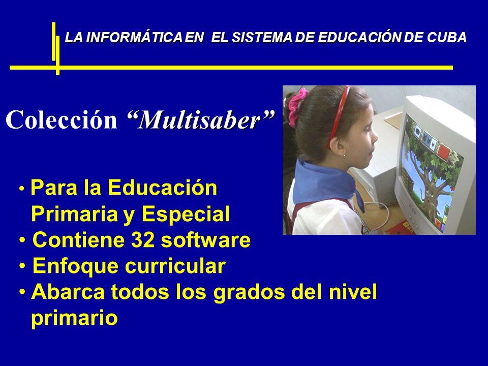 Multisaber Colección Multisaber Para la Educación Primaria y Especial Contiene 32 software Enfoque curricular Abarca todos los grados del nivel primar
