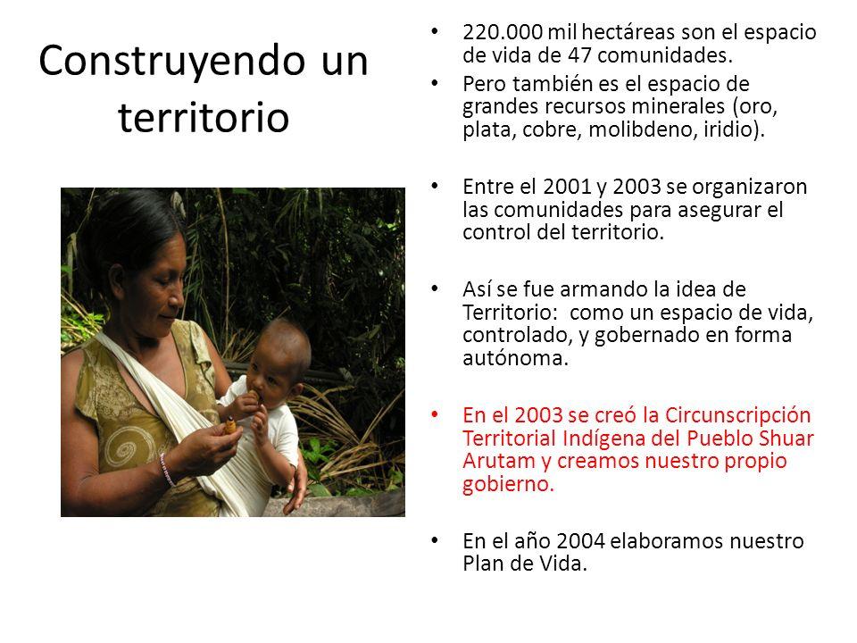 Comprensión del territorio Partimos de la idea que el Ecuador es plurinacional y que como colectivo shuar teníamos que ejercer los derechos colectivos.