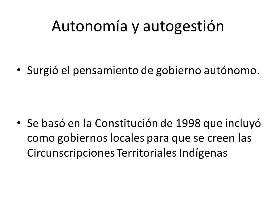 El gobierno como ordenamiento Se creó un gobierno para adentro, para organizar un modelo de vida de todo el territorio.