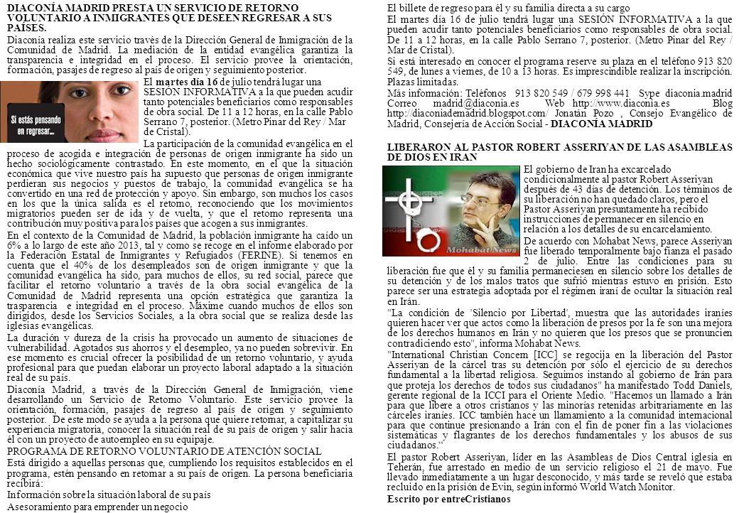 DIACONÍA MADRID PRESTA UN SERVICIO DE RETORNO VOLUNTARIO A INMIGRANTES QUE DESEEN REGRESAR A SUS PAÍSES.