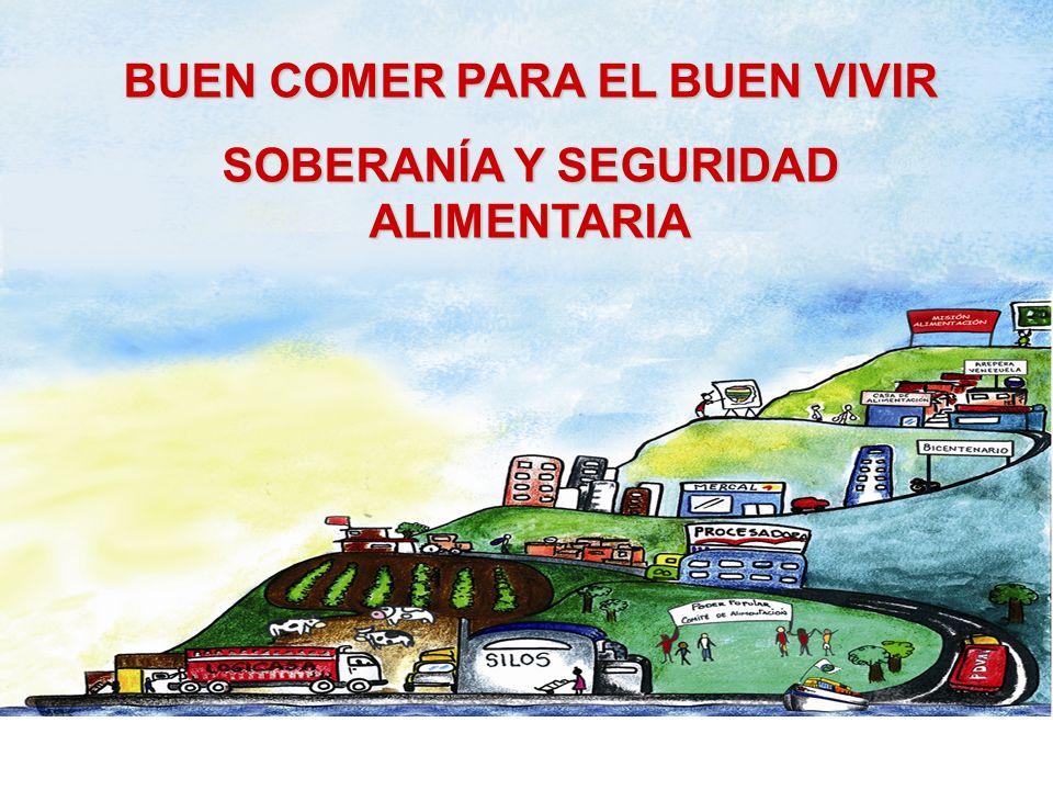 BUEN COMER PARA EL BUEN VIVIR SOBERANÍA Y SEGURIDAD ALIMENTARIA