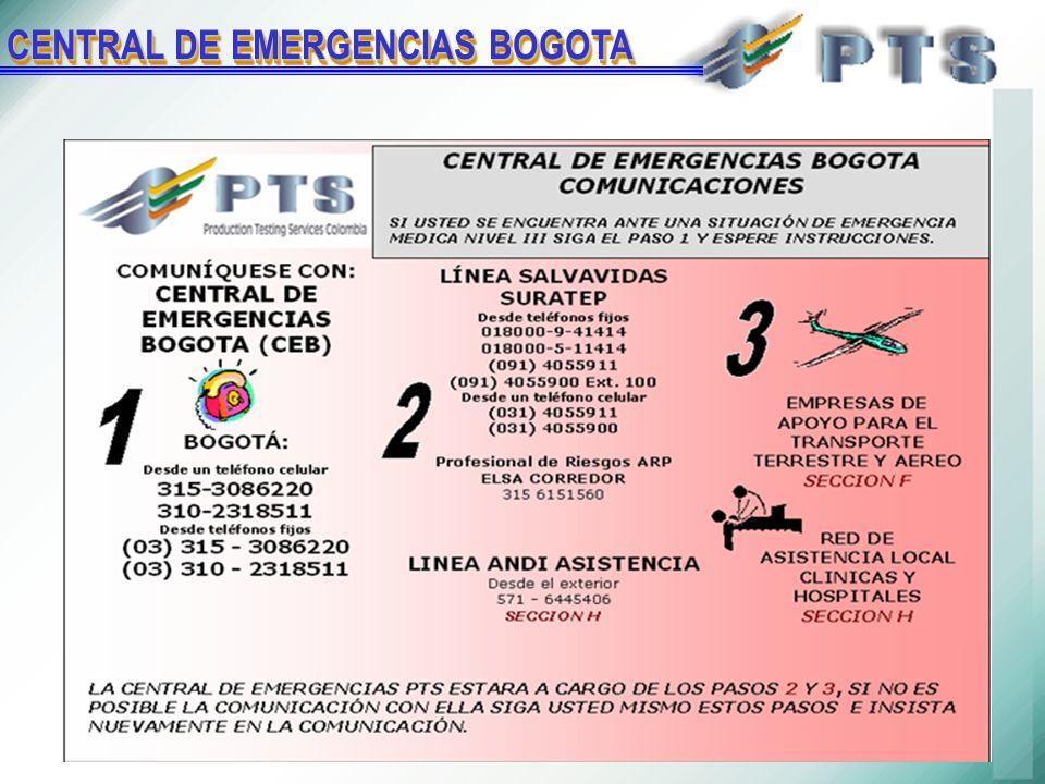 CENTRAL DE EMERGENCIAS BOGOTA