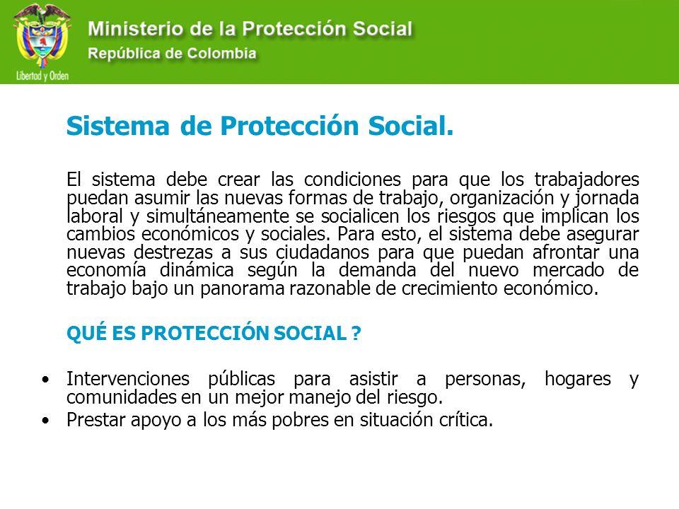 Sistema de Protección Social. El sistema debe crear las condiciones para que los trabajadores puedan asumir las nuevas formas de trabajo, organización