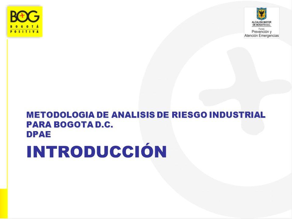 INTRODUCCIÓN METODOLOGIA DE ANALISIS DE RIESGO INDUSTRIAL PARA BOGOTA D.C. DPAE