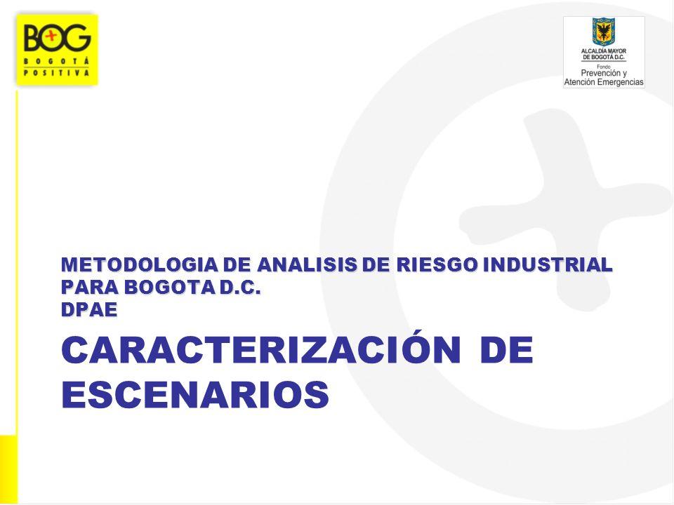CARACTERIZACIÓN DE ESCENARIOS METODOLOGIA DE ANALISIS DE RIESGO INDUSTRIAL PARA BOGOTA D.C. DPAE