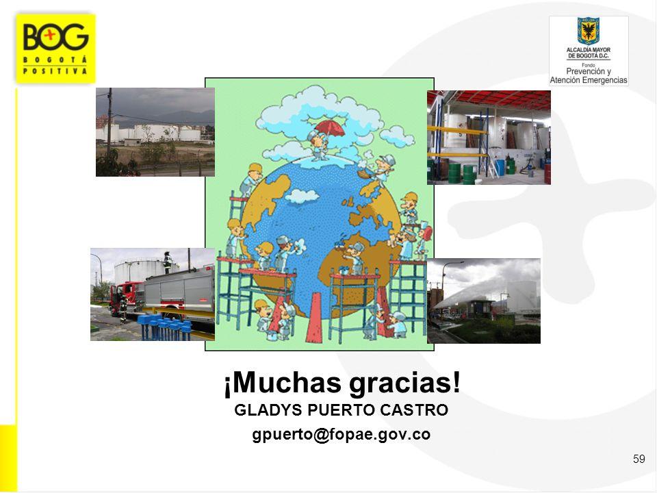 59 ¡Muchas gracias! GLADYS PUERTO CASTRO gpuerto@fopae.gov.co