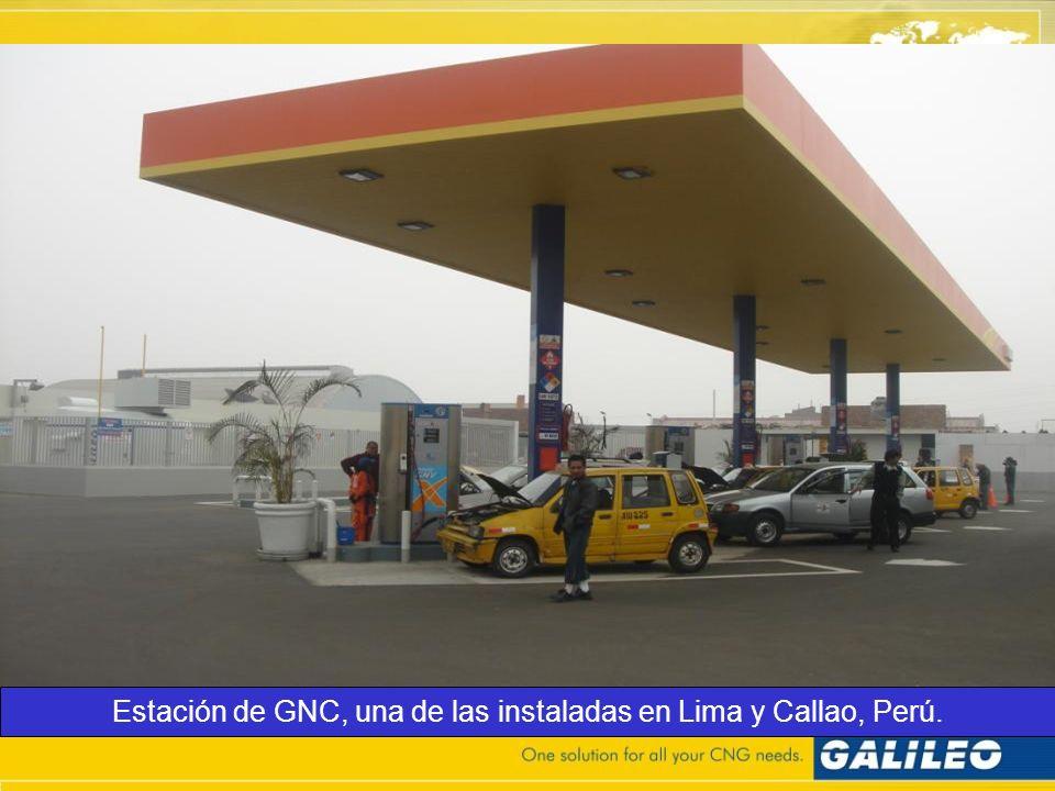 Estación de GNC, una de las instaladas en Lima y Callao, Perú.