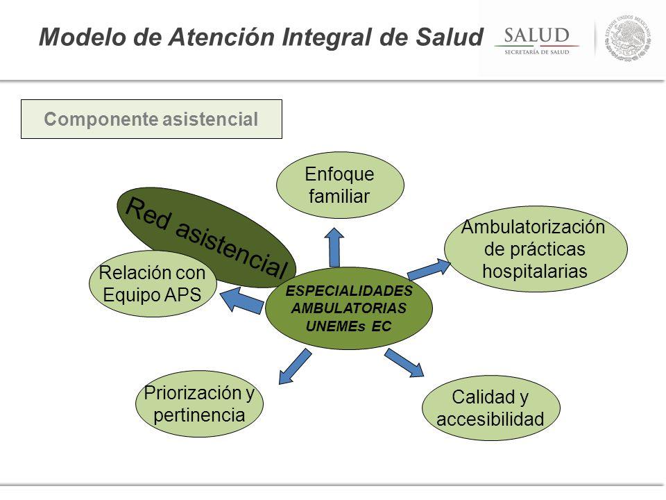 Modelo de Atención Integral de Salud Calidad y accesibilidad Red asistencial Ambulatorización de prácticas hospitalarias Priorización y pertinencia ES