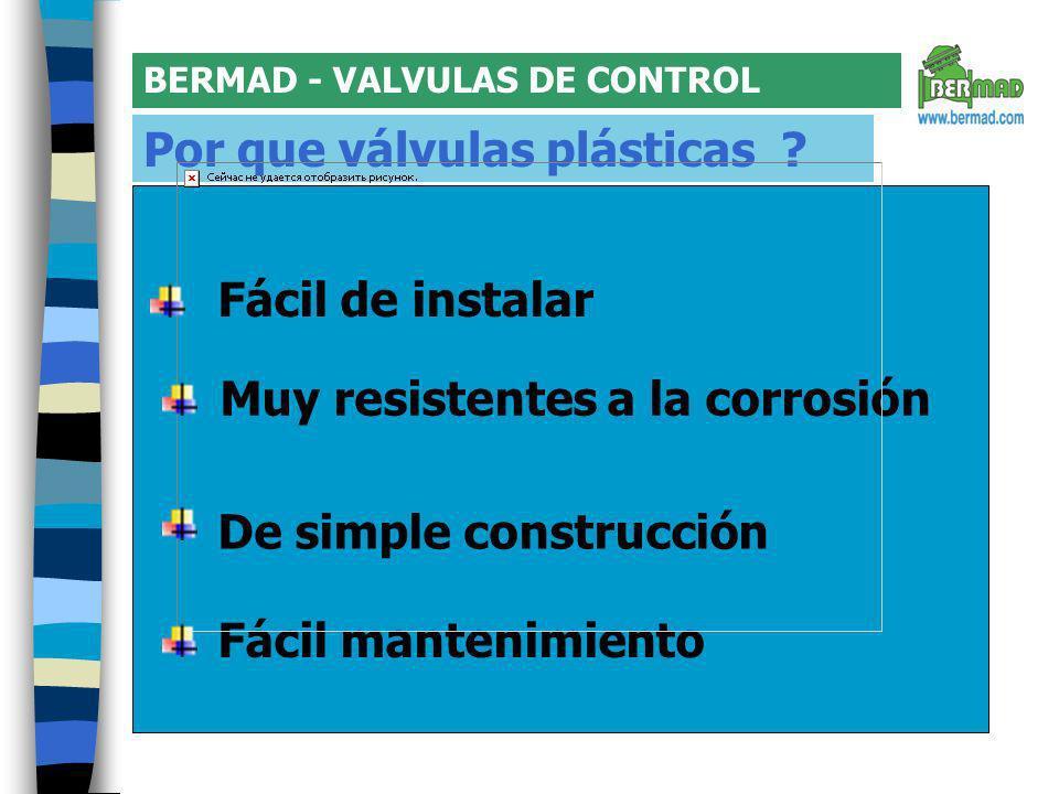 BERMAD - VALVULAS DE CONTROL Válvula de plastico Serie 100 Kibbutz Evron VÁLVULA SUPER EFICIENTE