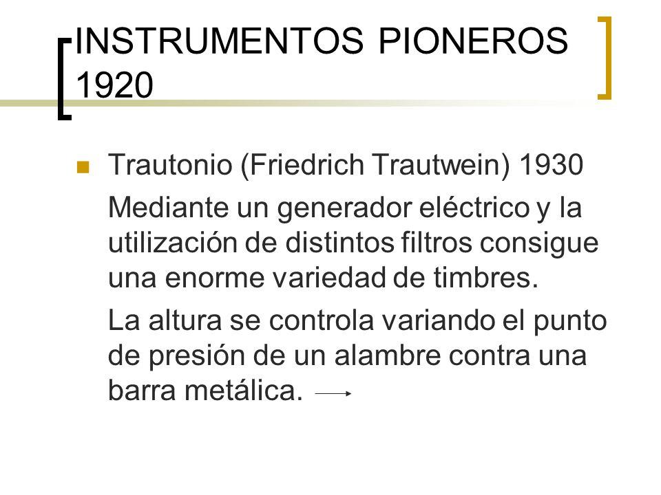 INSTRUMENTOS ACTUALES ÓRGANO ELECTRÓNICO (ver video DVD Editorial) Fue inventado en1934 por el norteamericano Laurens Hammond con la intención de emular la variedad de timbres y la amplitud de registro del órgano convencional.
