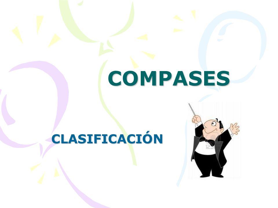 REPRESENTACIÓN Y SIGNIFICADO DEL SIGNO DE COMPÁS El Compás está representado en forma de dos números (a forma de fracción) que se colocan al lado de la clave